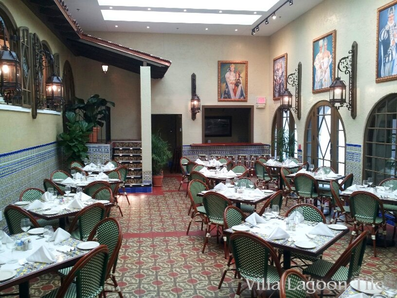 Our cuban tile finds a home in fl 39 s oldest restaurant for S s columbia dining room
