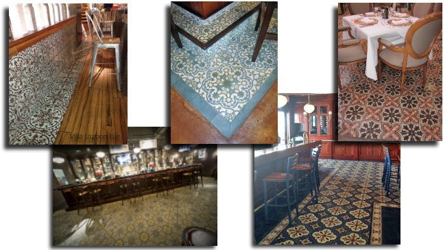 Cement Tile in Restaurants