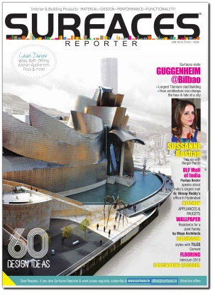 Cover of June 2013 issue of Surfaces Reporter Magazine.