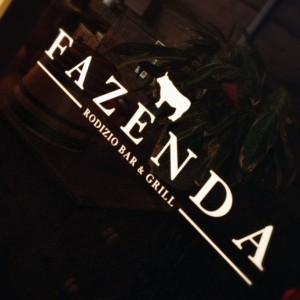 Door Sign for Fazenda Rodizio Bar and Grill