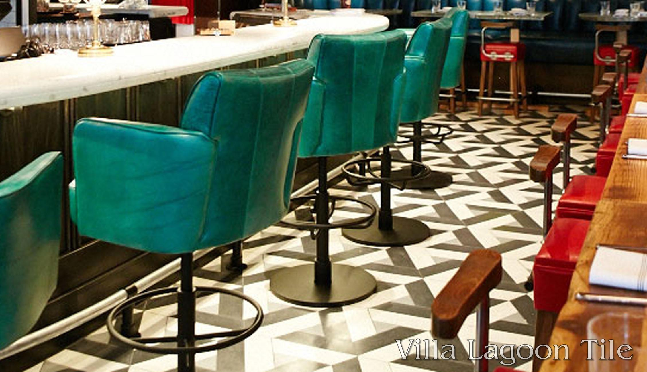 A toronto icon expands with custom cement tile cement style a portion of the marble bar and custom cement tile floor of the drake one fifty dailygadgetfo Choice Image
