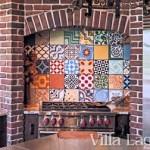 Patchwork Cement Tile Backsplash