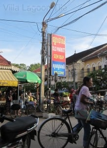 Siem Reap old market area sign