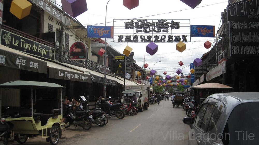 Cambodian Siem Reap market area