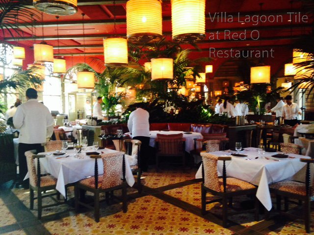 California Restaurant Glows with Villa Lagoon Tile