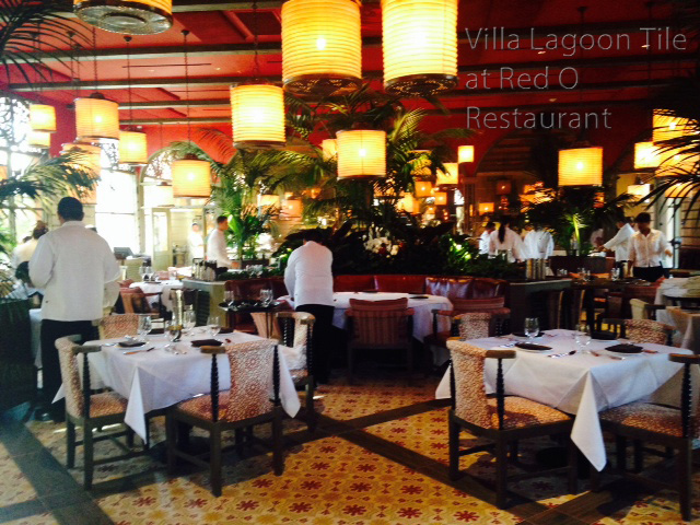 California Restaurant Glows with Villa Lagoon Tile