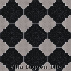 Florentine shaped cement tile, from Villa Lagoon Tile