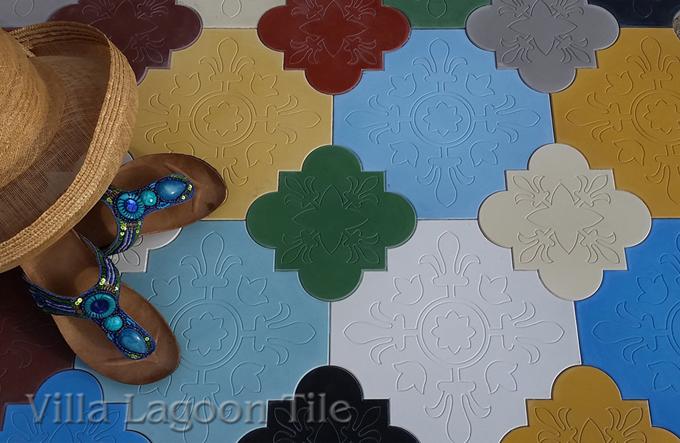 Florentine Shaped Cement Tile