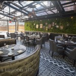 Boka Restaurant Chicago, with Ikat cement tiles from Villa Lagoon Tile