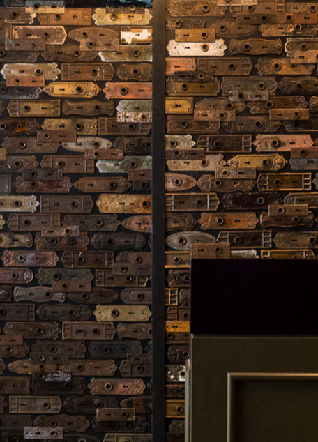 Boka Restaurant Chicago, wall.