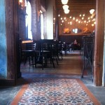 Cement tile at Pirilo Pizza