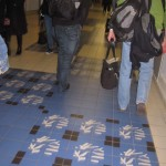 Paris France cement tiles at the airport
