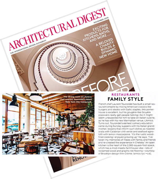 Architectural Digest November Issue