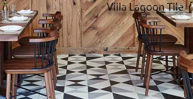 L'Amico Restauratn NYC Cement Tile Floor