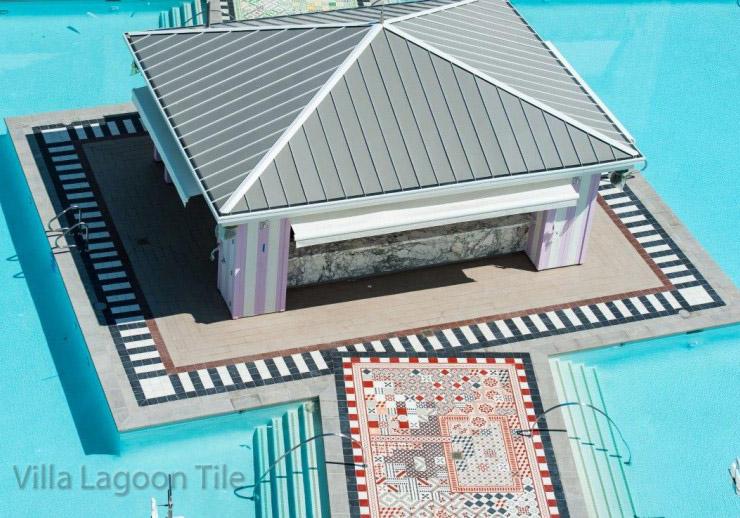 SLS Foxtail pool area Las Vegas