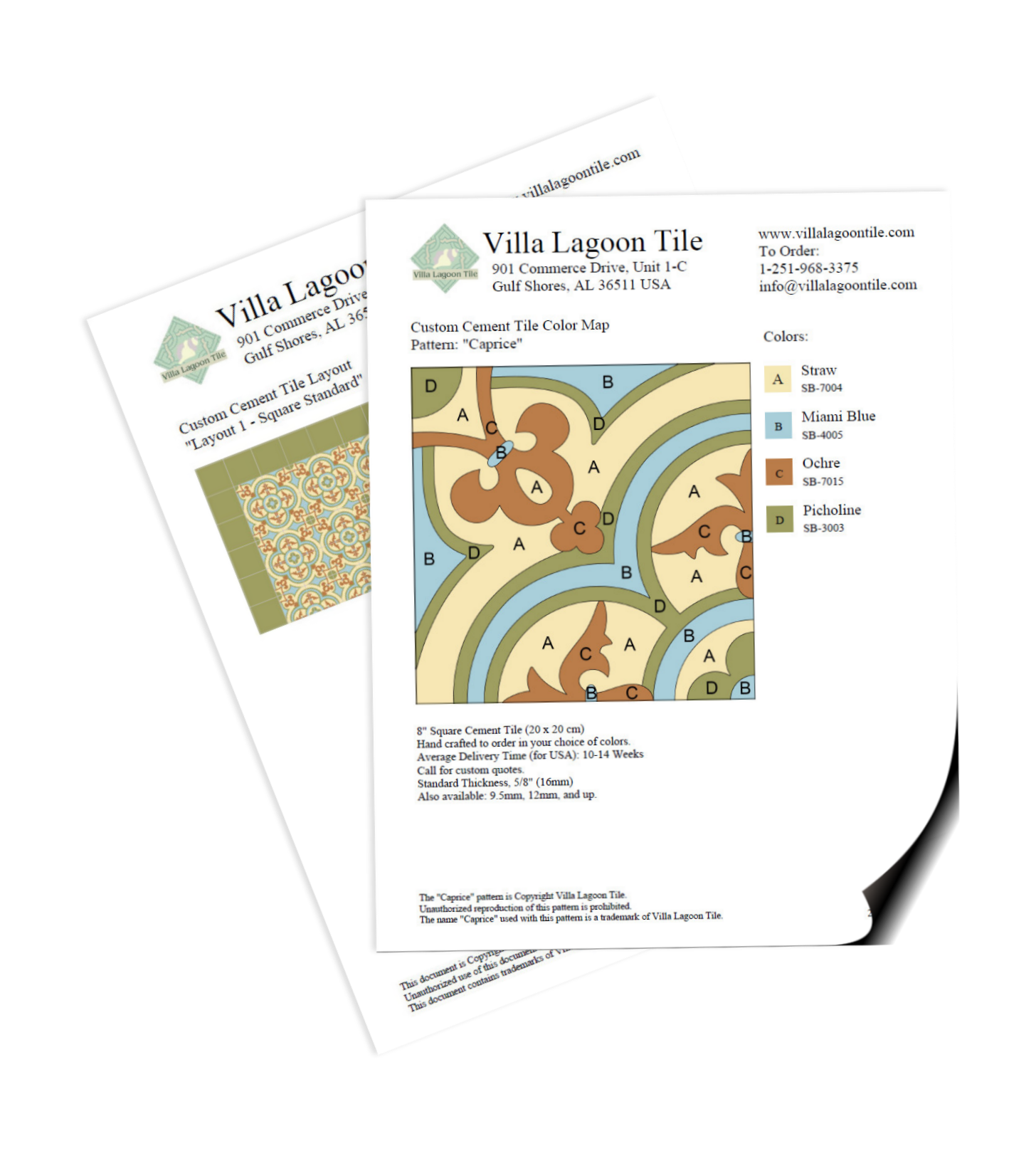 Example of the tear sheet document generated by out tile tool.