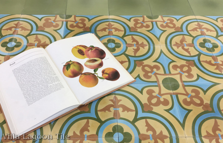 "Photo of our ""Caprice Summer"" cement tile."