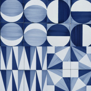 Get the Look: Gio Ponti Blue and White Tile