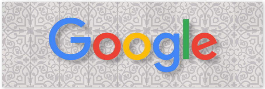 google logo with tile background