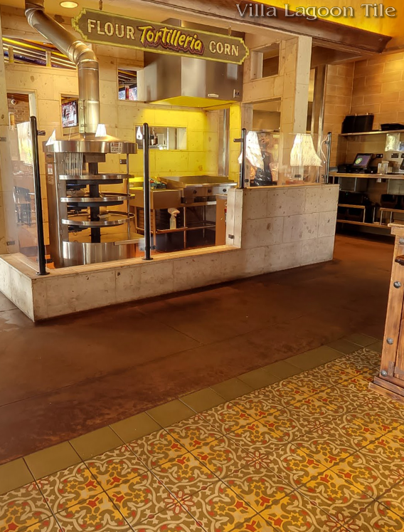 "Custom ""Havana Cantina"" with a Matching Solid Border at Jimmy Changas in Katy, TX"