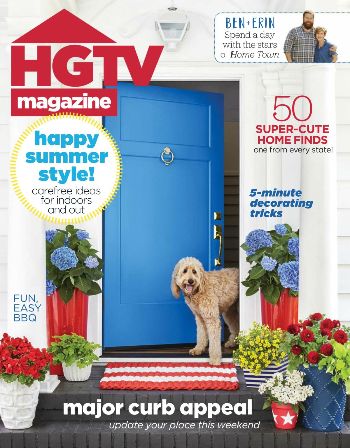 HGTV Magazine Cober july/August 2018