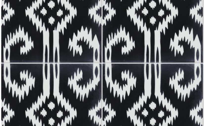 Gypsy Black & White Is a Twist on Classic Black and White Tiles