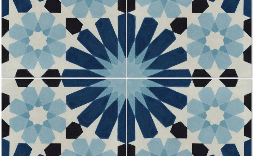 Tangier Blues Tile Vibrant Patterns, Blended with Cool Tones, Create a Distinguishing Moroccan-Inspired Look and Feel