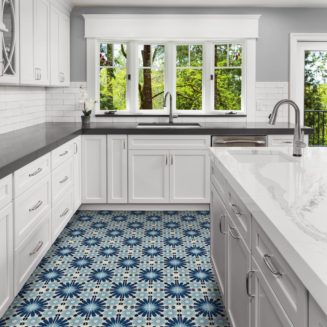 Tangier Blues Tile Vibrant Patterns