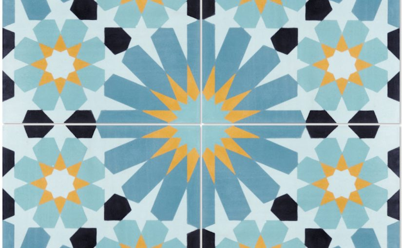 Tangier Primero Cement Tile Has Vibrant Patterns, Rich Colors Evoking 'Boho Chic' Look and Feel