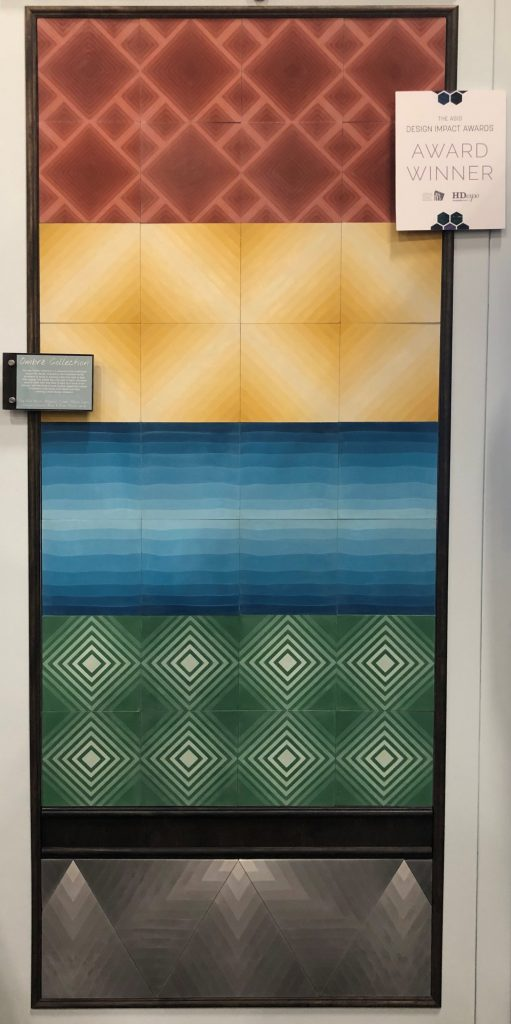 Villa Lagoon Tile's Ombré Collection on display with the ASID Design Impact Awards, at HD Expo 2019.