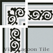 """Gilbert Gris"" Replica Cement Tile"
