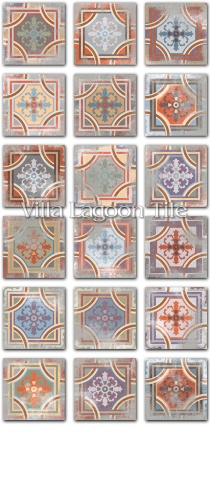 """Patchwork Comillas"" Replica Cement Tile"