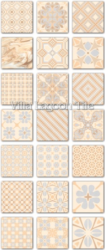 """Patchwork Crema"" Replica Cement Tile"
