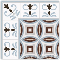 Valvanera Celeste Border with Dorda Celeste Field Tile