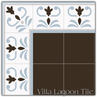 Valvanera Celeste Border Tile Arrangement