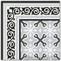 Gilbert Gris Border Tile and Llagostera Gris Field Tile