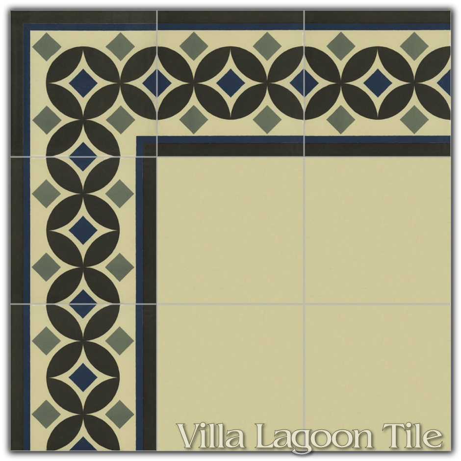 G Ell Border Reproduction Cement Tile Ceramic Villa Lagoon Tile