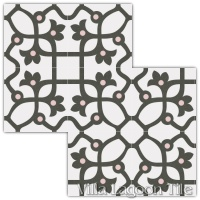Jujol Grafito Field Tile Arrangement
