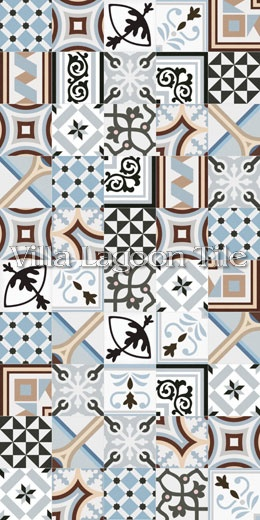 valvanera celeste border reproduction cement tile  ceramic