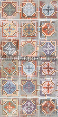 Patchwork Antique Comillas Tile Arrangement
