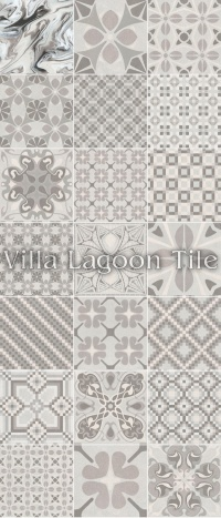 Patchwork Perla Tile Arrangement