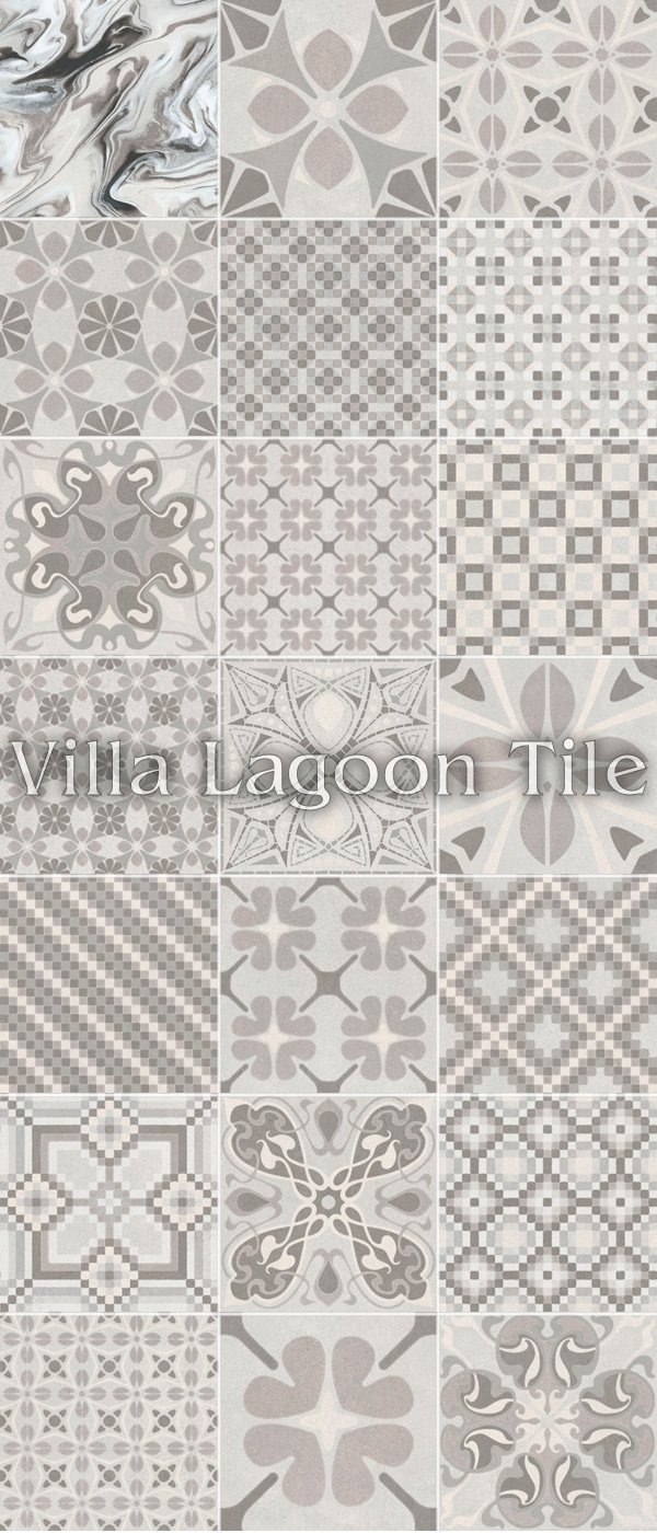 Patchwork Perla Reproduction Cement Tile Ceramic Villa