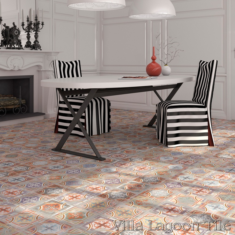 Comillas Patchwork dining room floor.