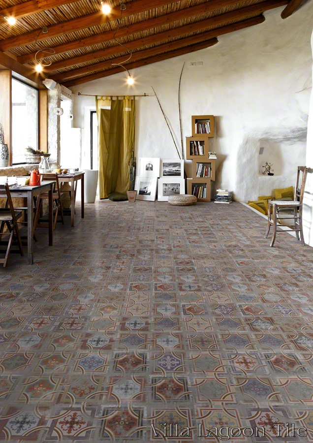 Comillas Patchwork Living Room Floor.