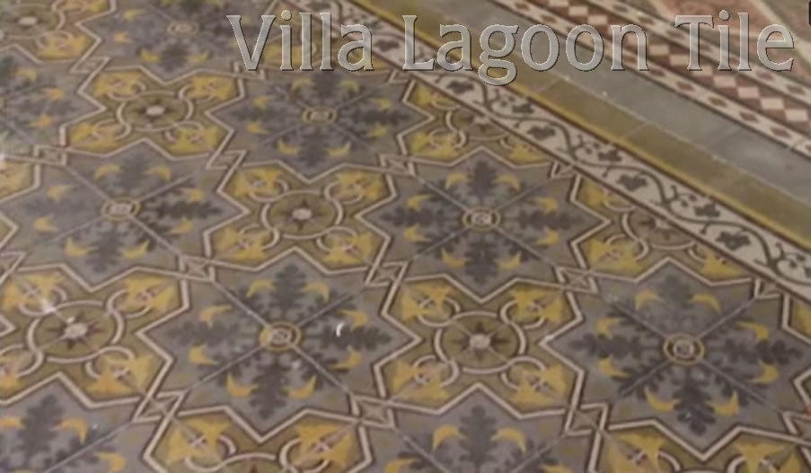 Antique Cement Tiles Villa Lagoon Tile