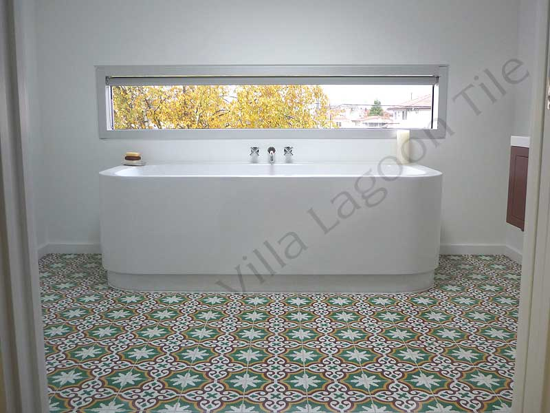 Bathrooms With Cement Tile Villa Lagoon Tile