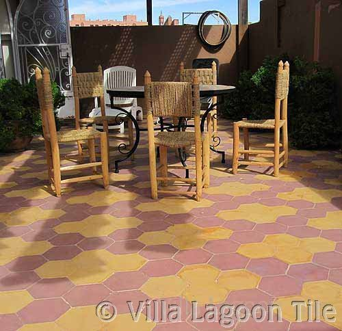 Cement Tile Outdoor Installations Villa Lagoon Tile - Cement tiles for backyard