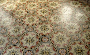 Antique cement tile