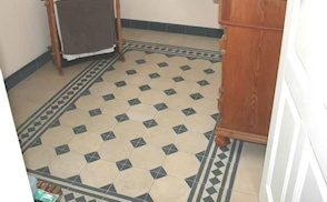 Bathroom cement tile photo gallery image