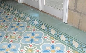 Residential cement tile photo gallery image